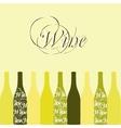 Wine or vinegar bottles vector