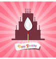 Birthday background with cake silhouette vector