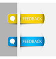 Feedback labels stickers on the edge of the web vector