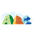 Alphabet made of stone single word abc vector