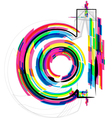 Colorful font - letter d vector