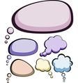 Speech color clouds vector