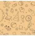 Seamless children background vector