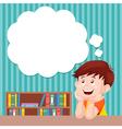 Boy thinking vector