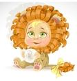 Baby zodiac - sign leo vector