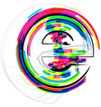 Colorful font - letter e vector