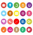 Education flat icons on white background vector