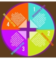 Circle concepts with icons infographics vector