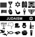 Icons for judaism vector