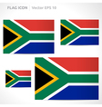 South africa flag template vector
