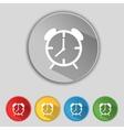 Alarm clock sign icon wake up alarm symbol set of vector