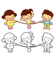Rope skipping boys girls vector