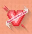 Abstract arrow heart happy valentine banner vector