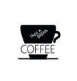 Coffee break cup black vector