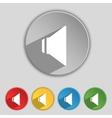 Speaker volume sign icon sound symbol set vector