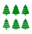 Christmas trees icons set vector
