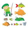 Fisherman trophy vector