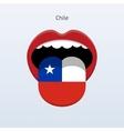Chile language human tongue vector