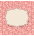 Frame in retro vintage seamless background vector
