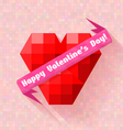 Abstract heart banner valentine day vector