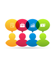 Colorful people icons with infographic elements vector