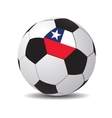 Soccer ball with the flag of chile vector