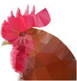 Triangle rooster vector