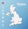 United kingdom map vector