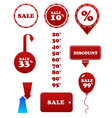 red sale set stamp discount tags labels vector