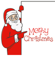 Santa claus with blank sign 01 vector