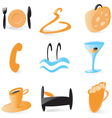 Smooth hotel service icons vector