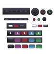 Set of buttons for tv dvd vector