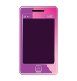 Mobile phone for woman in pink color vector