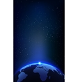 The earth planet and space background for your vector