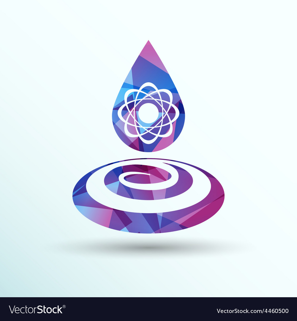 Chemical icons icon drop water element formula vector | Price: 1 Credit (USD $1)
