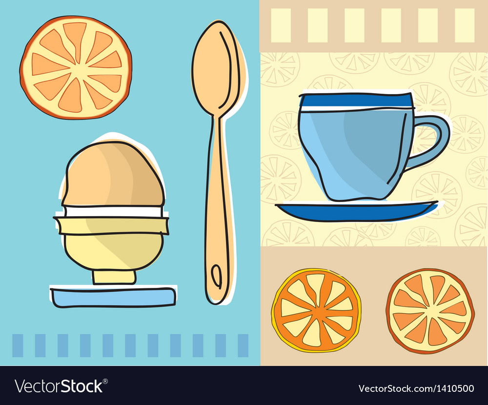 Coffee and breakfast vector | Price: 1 Credit (USD $1)