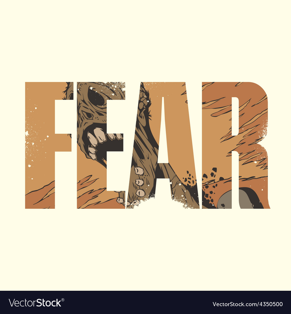 Fear sign vector | Price: 1 Credit (USD $1)
