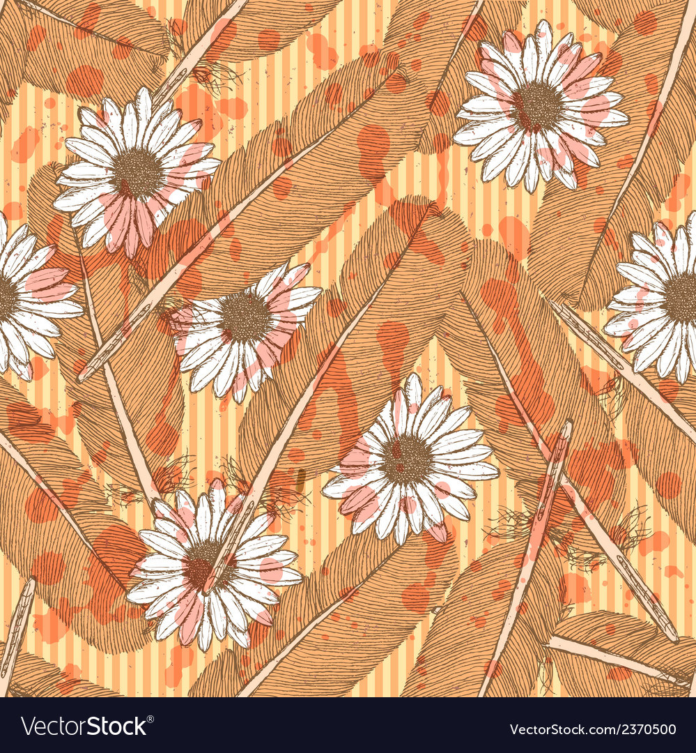 Feather daisy vector | Price: 1 Credit (USD $1)