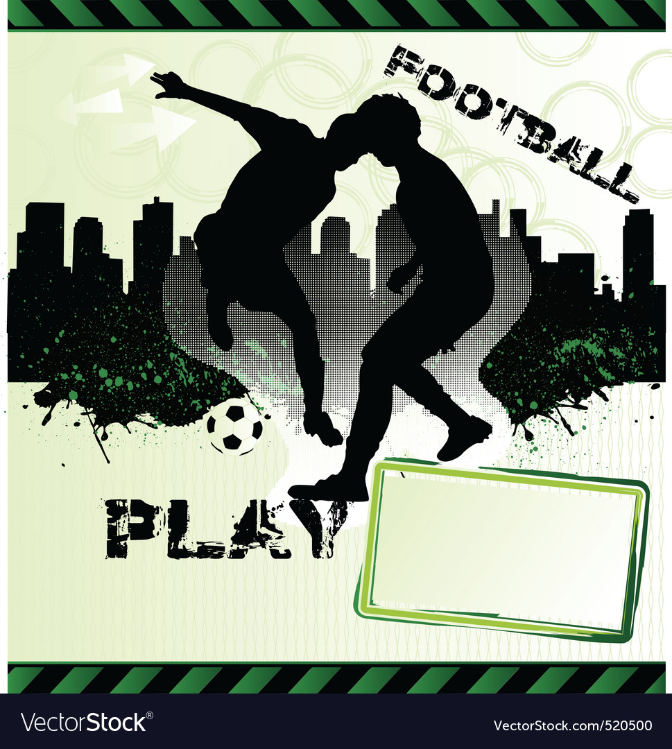 Football urban grunge poster with soccer player si vector | Price: 1 Credit (USD $1)