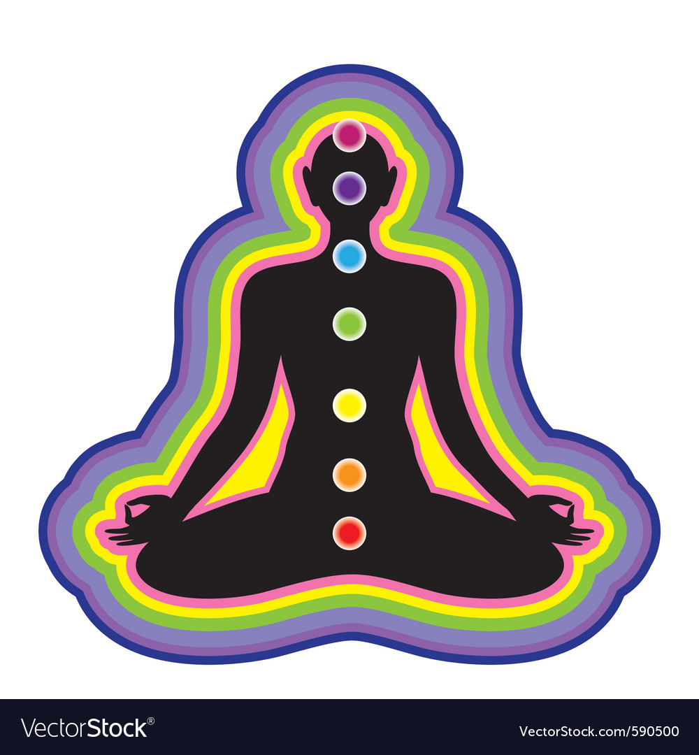 Meditation location of the chakras on the human bo vector | Price: 1 Credit (USD $1)