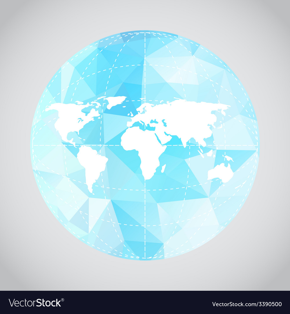 Mono blue background of earth vector | Price: 1 Credit (USD $1)