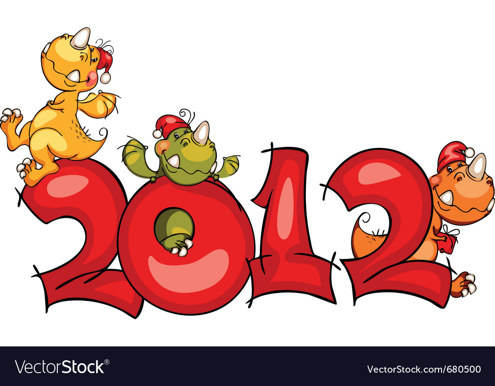 New year border dragon vector | Price: 1 Credit (USD $1)