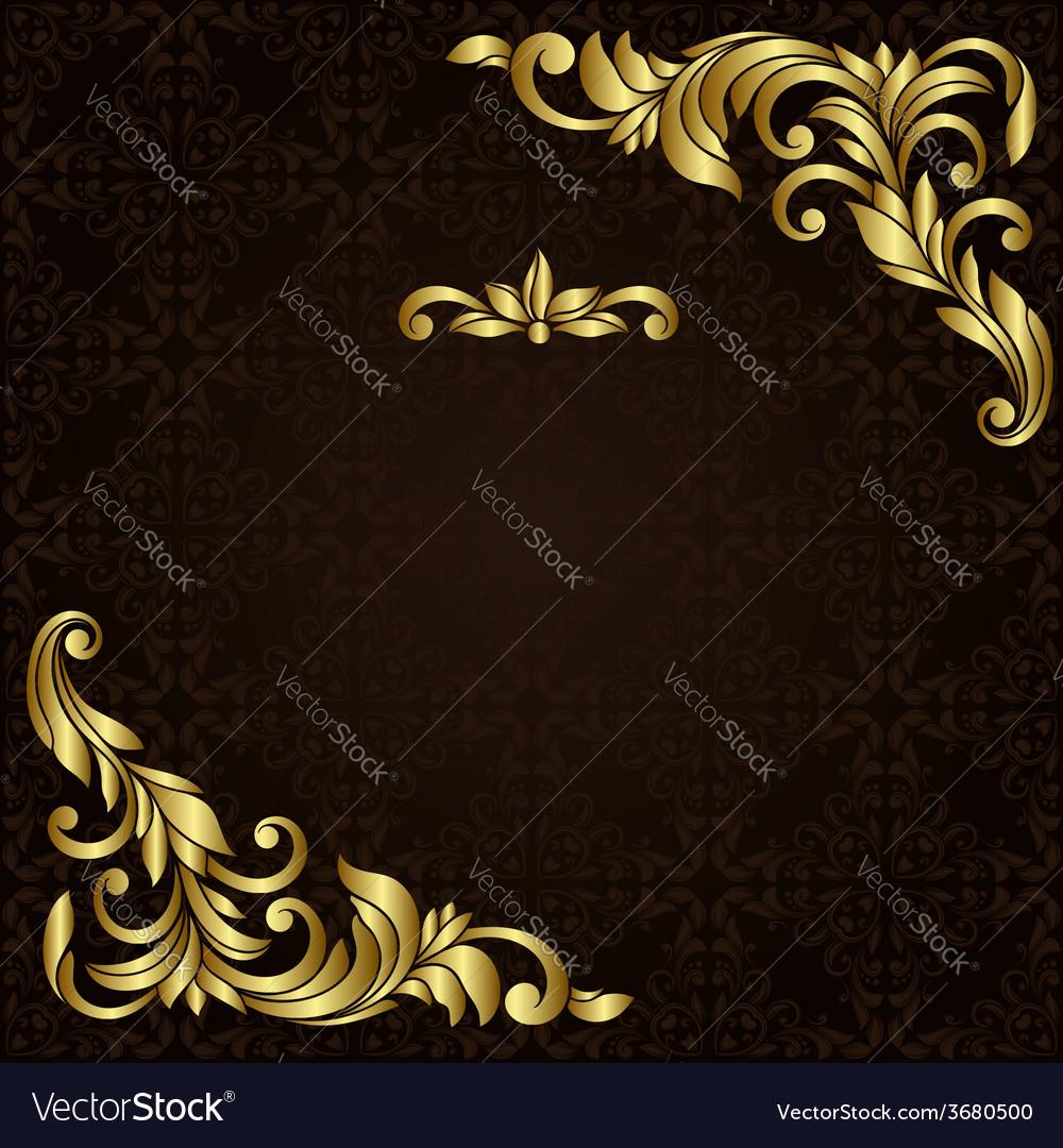 Ornate gold border vector   Price: 1 Credit (USD $1)
