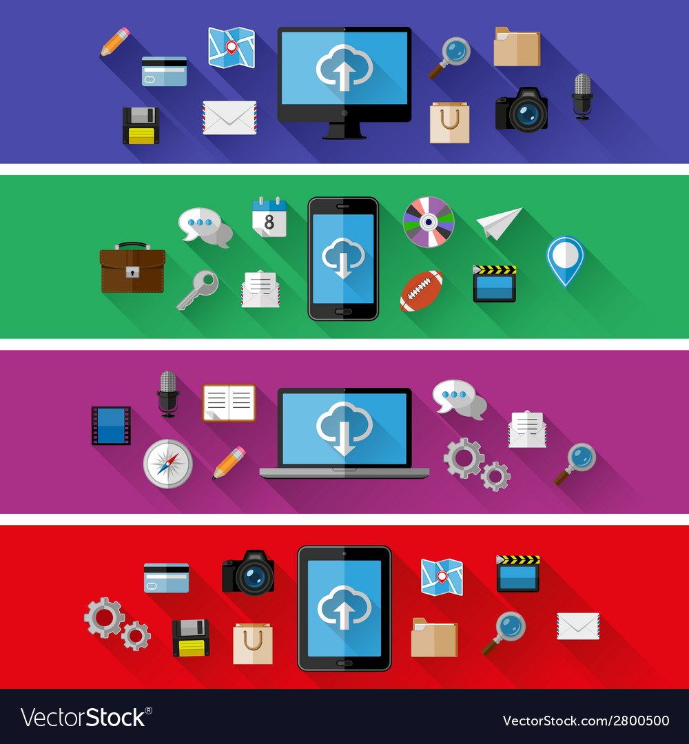 Set of web and business concepts vector | Price: 1 Credit (USD $1)