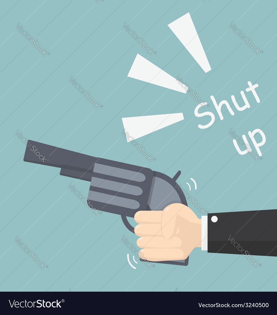 Shut up vector | Price: 1 Credit (USD $1)