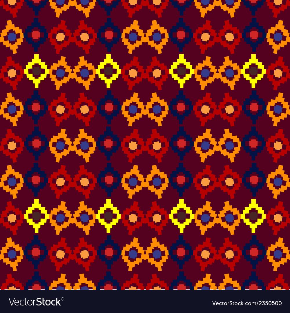 Tribal seamless pattern of rhombuses vector | Price: 1 Credit (USD $1)