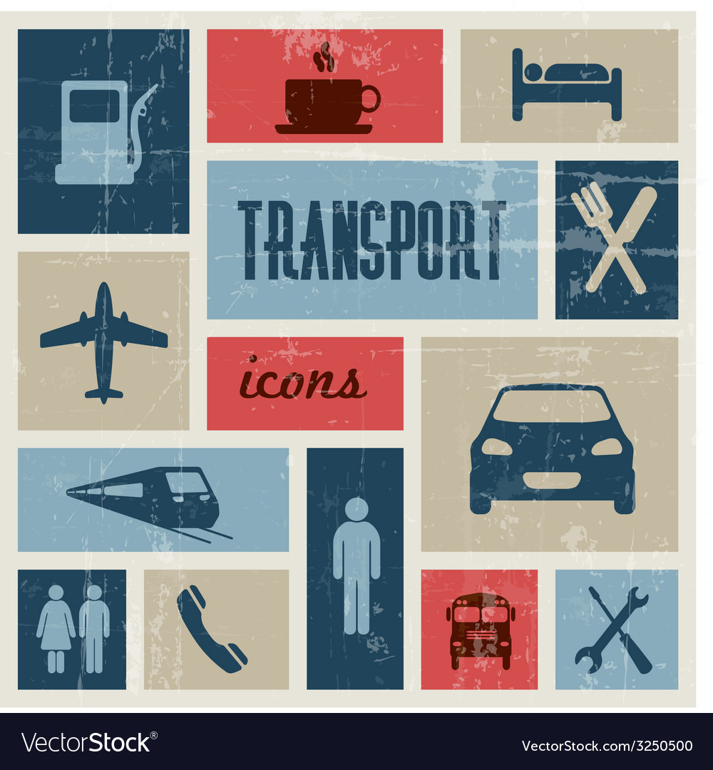 Vintage transport traffic poster vector | Price: 1 Credit (USD $1)