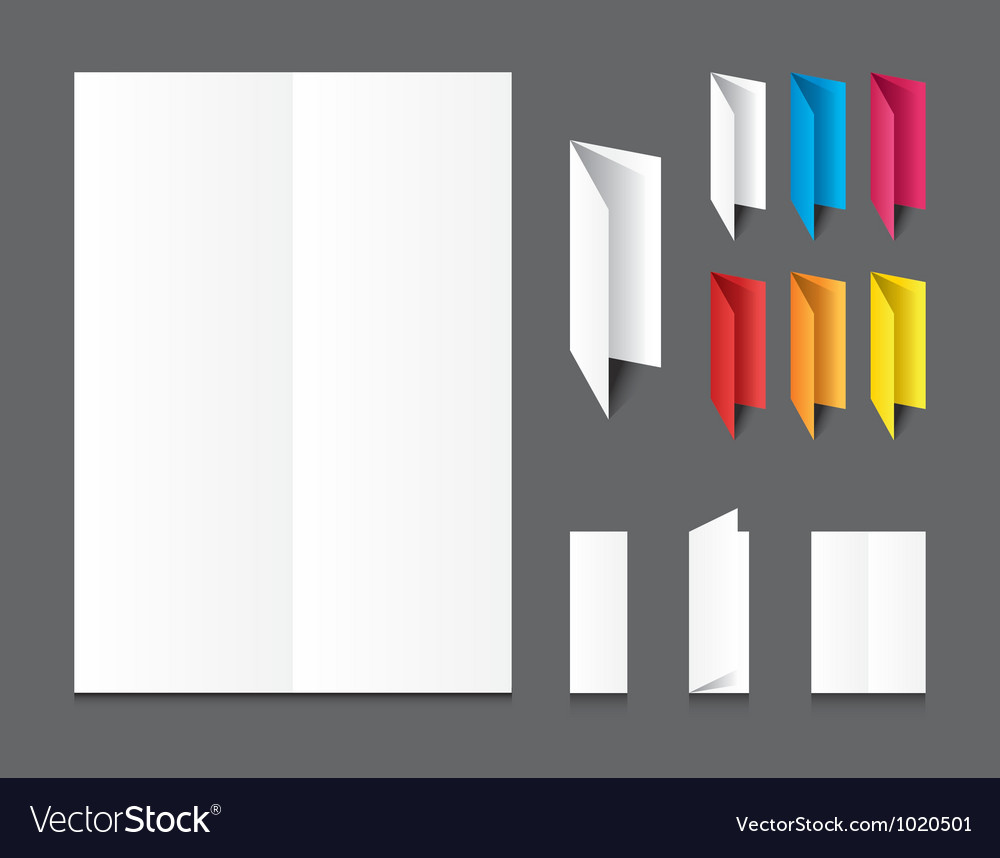Blank white folding color paper flyer vector | Price: 1 Credit (USD $1)