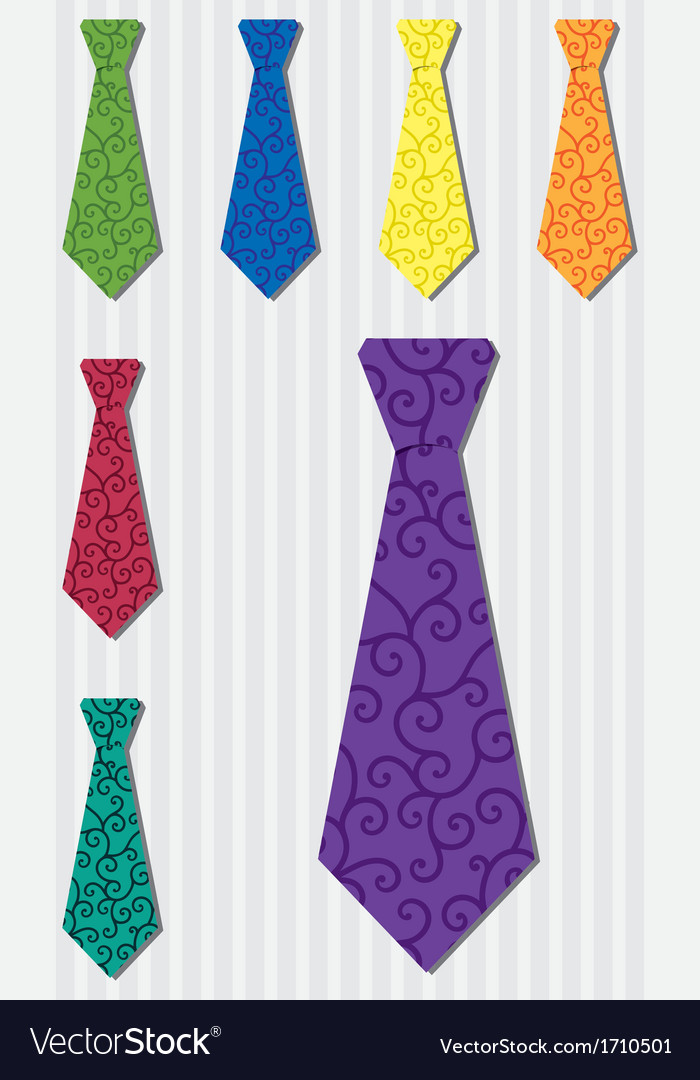 Bright filigree silk tie stickers in format vector | Price: 1 Credit (USD $1)