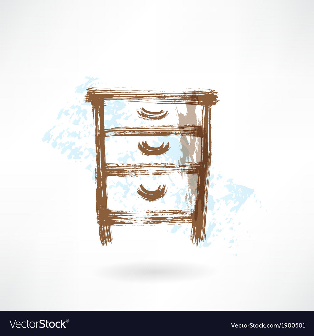 Chest of drawers vector | Price: 1 Credit (USD $1)